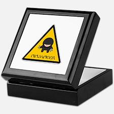Cute Warning Keepsake Box