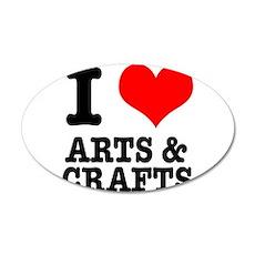 I Heart (Love) Arts & Crafts 22x14 Oval Wall P