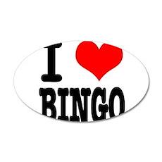 I Heart (Love) Bingo 38.5 x 24.5 Oval Wall Peel