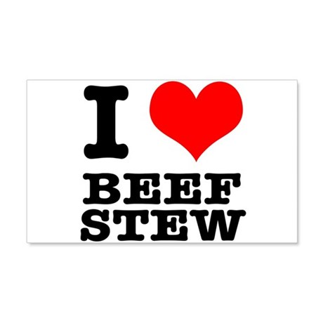 I Heart (Love) Beef Stew 22x14 Wall Peel