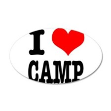 I Heart (Love) Camp 22x14 Oval Wall Peel