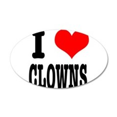 I Heart (Love) Clowns 22x14 Oval Wall Peel