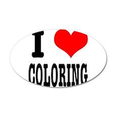 I Heart (Love) Coloring 22x14 Oval Wall Peel