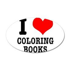 I (Heart) Love Coloring Books 22x14 Oval Wall Peel