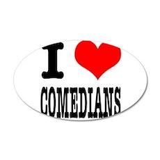 I Heart (Love) Comedians 22x14 Oval Wall Peel