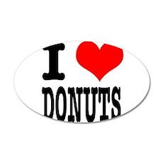 I Heart (Love) Donuts 22x14 Oval Wall Peel