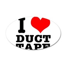 I Heart (Love) Duct Tape 22x14 Oval Wall Peel