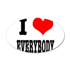 I Heart (Love) Everybody 22x14 Oval Wall Peel