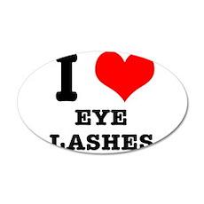 I Heart (Love) Eyelashes 22x14 Oval Wall Peel