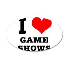 I Heart (Love) Game Shows 22x14 Oval Wall Peel