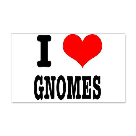 I Heart (Love) Gnomes 22x14 Wall Peel
