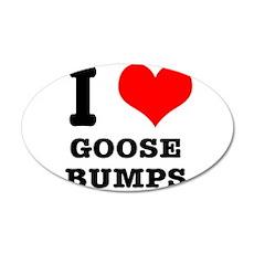 I Heart (Love) Goose Bumps 22x14 Oval Wall Peel