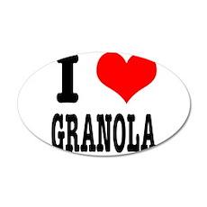 I Heart (Love) Granola 22x14 Oval Wall Peel