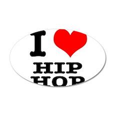I Heart (Love) Hip Hop 22x14 Oval Wall Peel