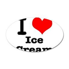 I Heart (Love) Ice Cream 22x14 Oval Wall Peel