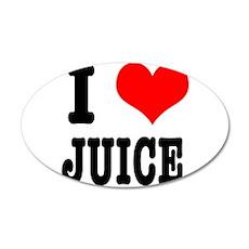 I Heart (Love) Juice 38.5 x 24.5 Oval Wall Peel