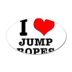 I Heart (Love) Jump Ropes 22x14 Oval Wall Peel