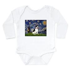 Starry Night / Rat Terrier Long Sleeve Infant Body