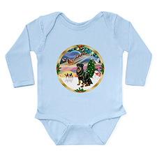 XmasMagic/ Rottie #3 Long Sleeve Infant Bodysuit