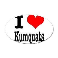 I Heart (Love) Kumquats 22x14 Oval Wall Peel
