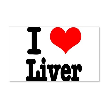 I Heart (Love) Liver 22x14 Wall Peel