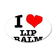 I Heart (Love) Lip Balm 22x14 Oval Wall Peel