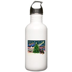 XmasMagic/2 Rotties Water Bottle