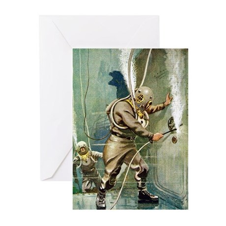 Salvage Divers Welding Greeting Cards (Pk of 20)