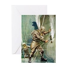 Salvage Divers Welding Greeting Card