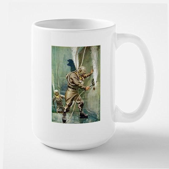 Salvage Divers Welding Large Mug