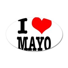 I Heart (Love) Mayo (Mayonais 22x14 Oval Wall Peel