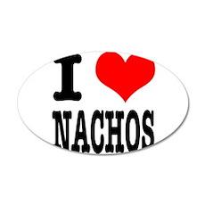 I Heart (Love) Nachos 22x14 Oval Wall Peel