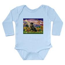 Autumn Angel & Rottie Long Sleeve Infant Bodysuit