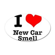 I Heart (Love) New Car Smell 22x14 Oval Wall Peel