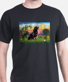 Bright Country with Rottweiler T-Shirt