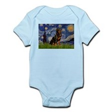 Starry Night Rottweiler Infant Bodysuit