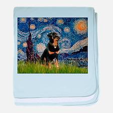 Starry Night & Rottie baby blanket