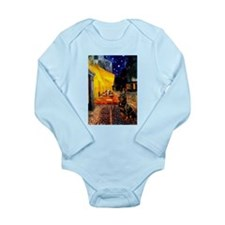 Cafe with Rottie Long Sleeve Infant Bodysuit