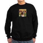 Two Angels & Saint Bernard Sweatshirt (dark)