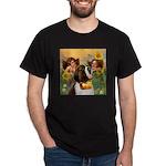 Two Angels & Saint Bernard Dark T-Shirt