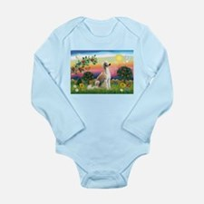 Bright Country with Saluki Long Sleeve Infant Body