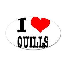 I Heart (Love) Quills 22x14 Oval Wall Peel