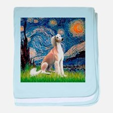 Starry Night & Fawn Saluki baby blanket
