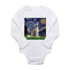 Starry Night & Fawn Saluki Long Sleeve Infant Body