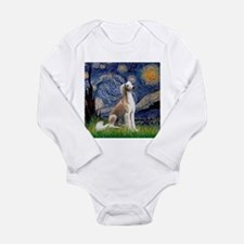Starry Night & Fawn Saluki Long Sleeve Infant Body