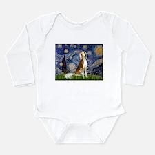 Starry Night & Saluki Long Sleeve Infant Bodysuit