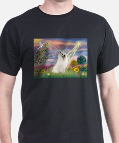 Cloud Angel & Samoyed T-Shirt