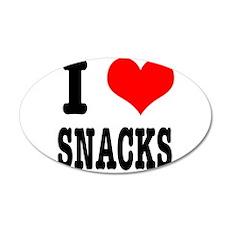 I Heart (Love) Snacks 22x14 Oval Wall Peel
