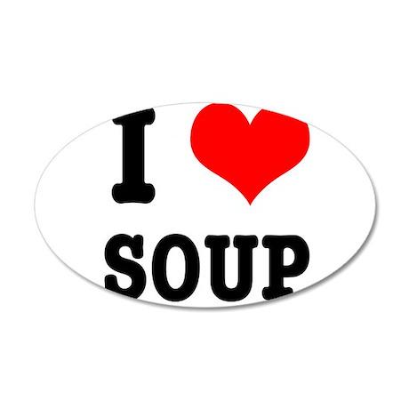 I Heart (Love) Soup 22x14 Oval Wall Peel