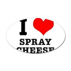 I Heart (Love) Spray Cheese 22x14 Oval Wall Peel
